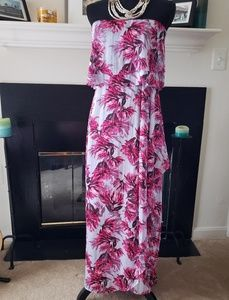Banana Republic Floral Tiered Flounce Maxi Dress